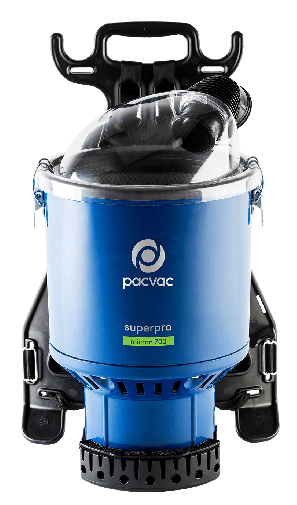 Superpro micron 700 HEPA rated commercial backpack vacuum